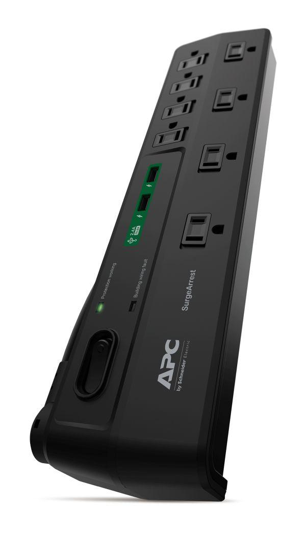 Apc 8 Oultet Surge Protector 2630 Joules With Usb Charger