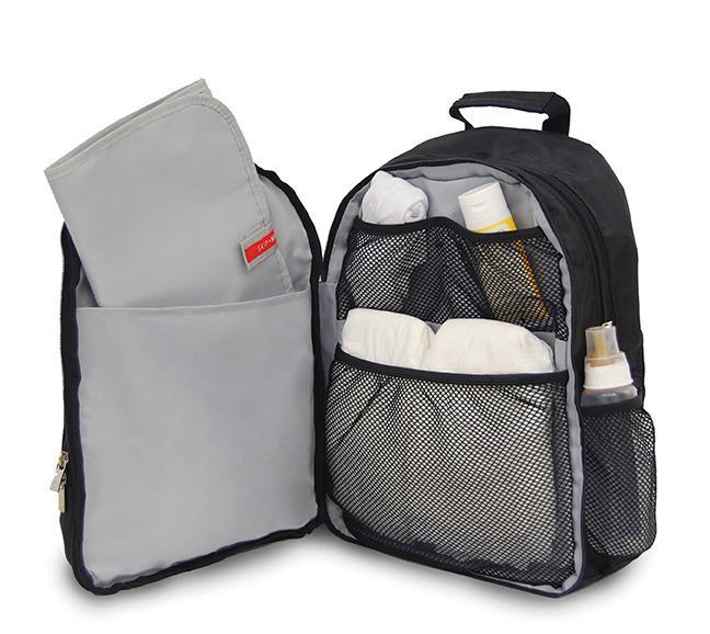 skip hop via backpack diaper bag black discontinued by manufacturer baby. Black Bedroom Furniture Sets. Home Design Ideas
