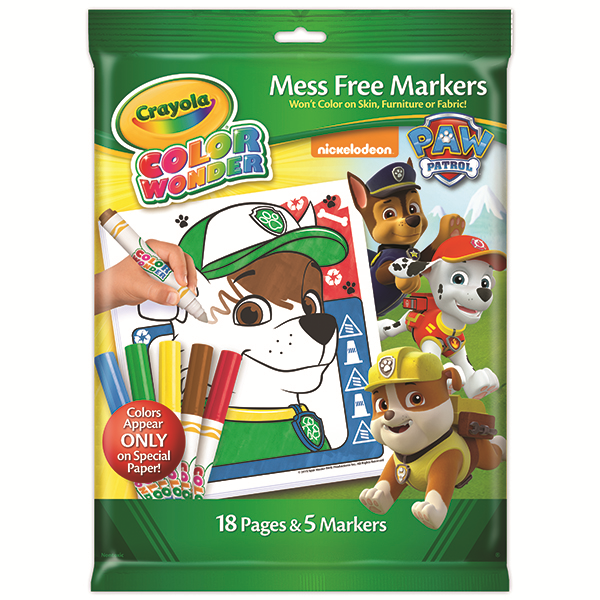 Crayola, Paw Patrol, Color Wonder Mess-Free Coloring Pad and ...