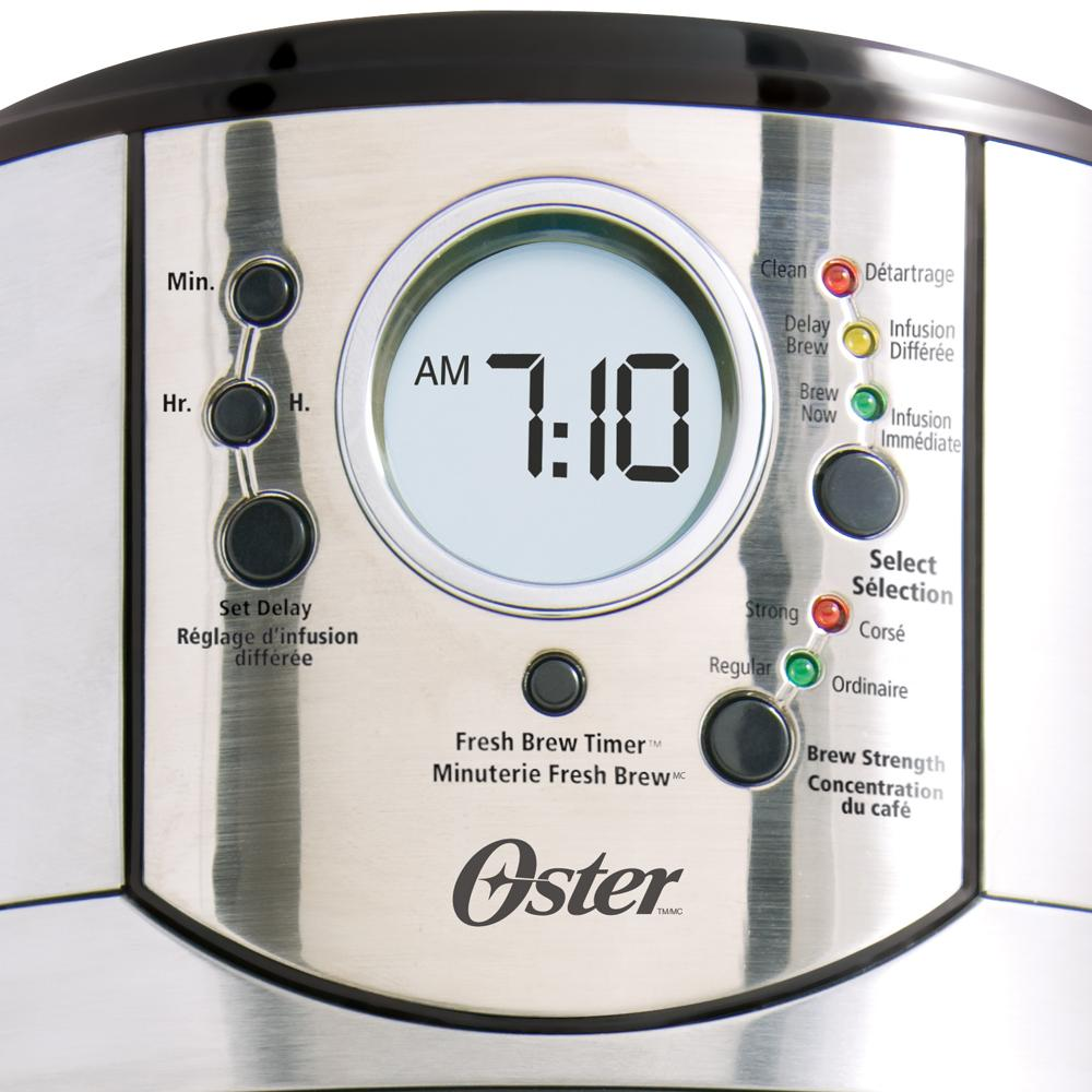 Oster Coffee Maker Set Time : Oster Stainless Steel 12-Cup Programmable Coffee Maker: Amazon.ca: Home & Kitchen