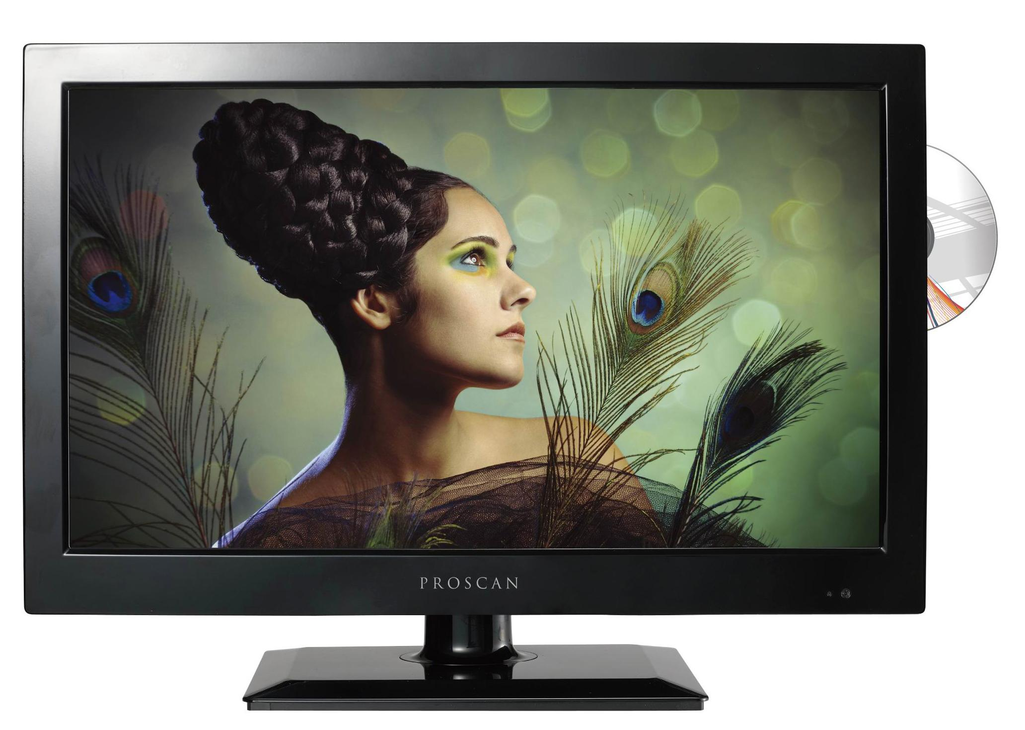 proscan 19 inch led hdtv with built in dvd player pledv1945a proscan electronics. Black Bedroom Furniture Sets. Home Design Ideas