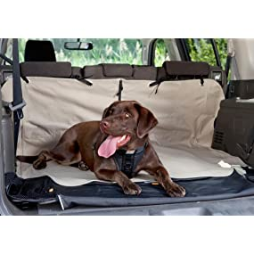 Comfy spot for your dog in the back of your car or SUV.