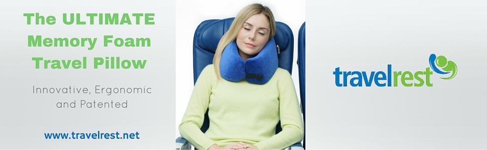 Travelrest Ultimate Travel Pillow Lean Into It To
