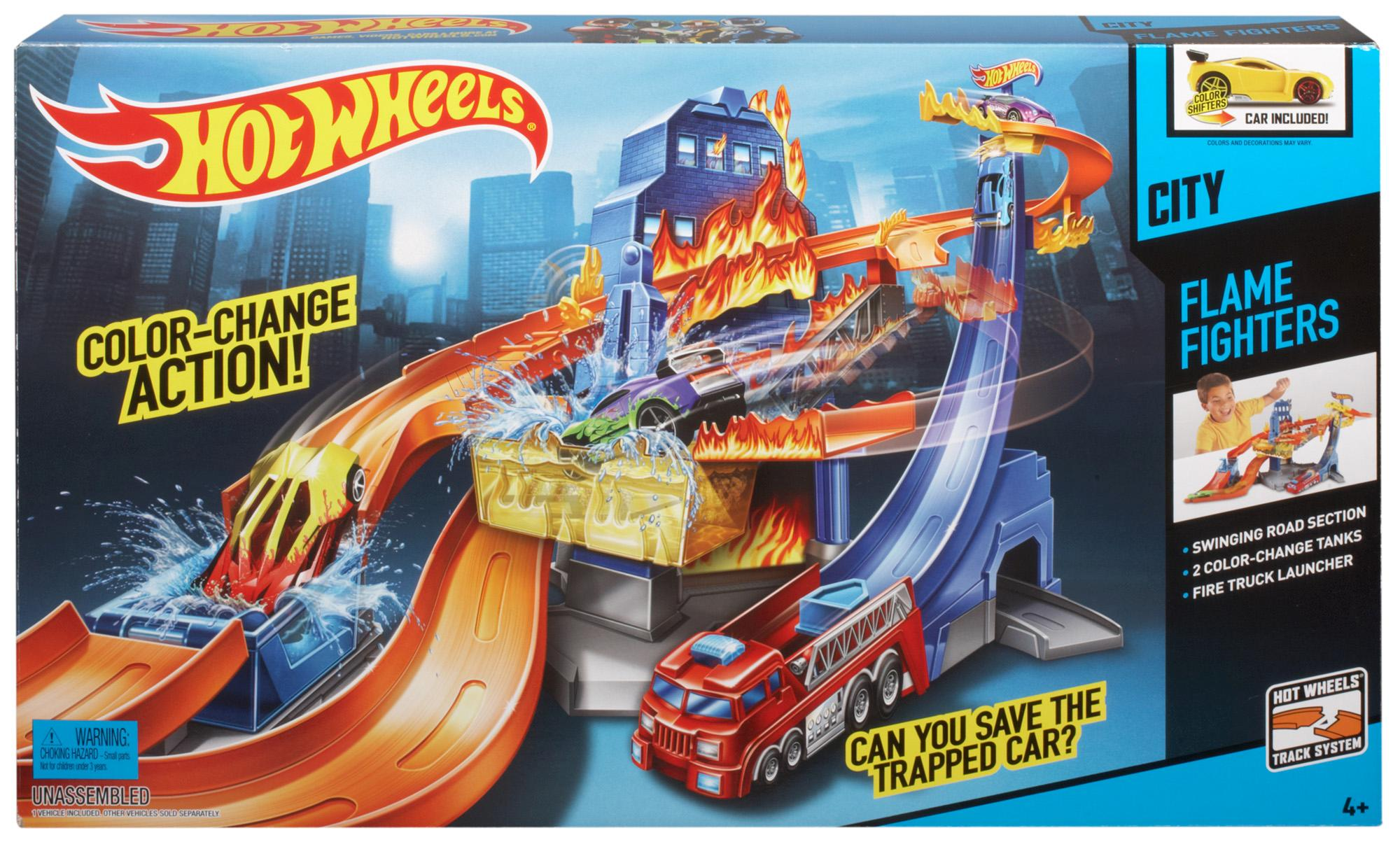 hot wheels color shifters flame fighter playset. Black Bedroom Furniture Sets. Home Design Ideas