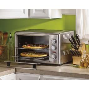 Hamilton beach 31103c countertop oven with convection and rotisserie small enough to fit on your kitchen counter but large enough to help you prepare for any meal or party the hamilton beach countertop oven with convection publicscrutiny Images