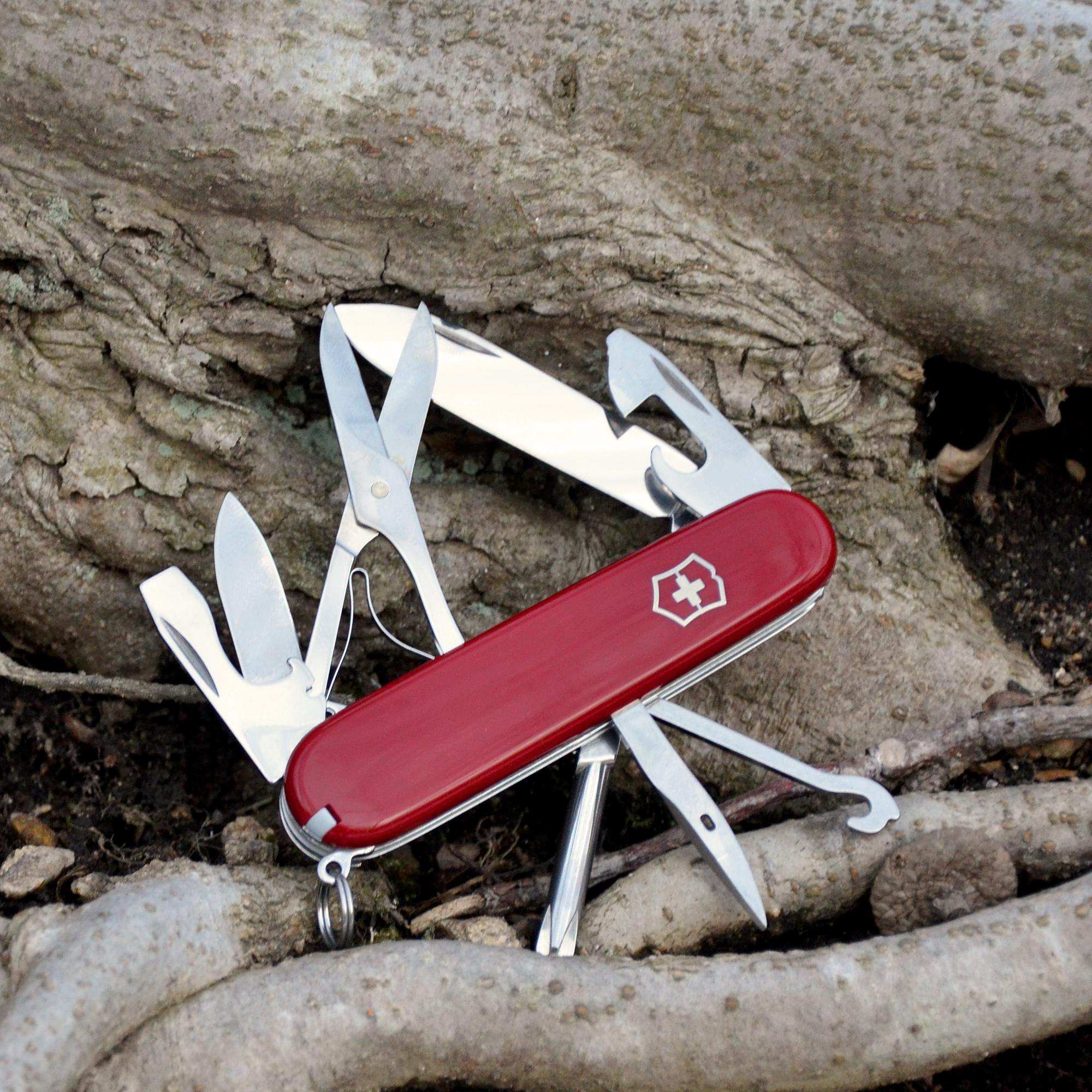 Victorinox Swiss Army Super Tinker Pocket Knife Red 91mm