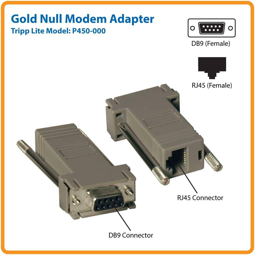 2pc rj45 to db9 null modem ada computers tablets. Black Bedroom Furniture Sets. Home Design Ideas