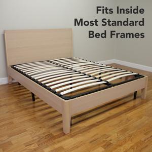 Classic Brands Europa Wood Slat And Metal Platform Bed