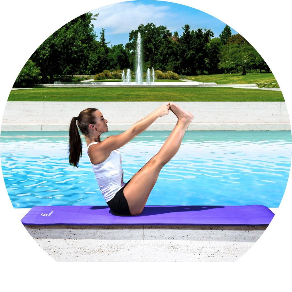 ProSource Premium High Density Exercise Yoga Mat With