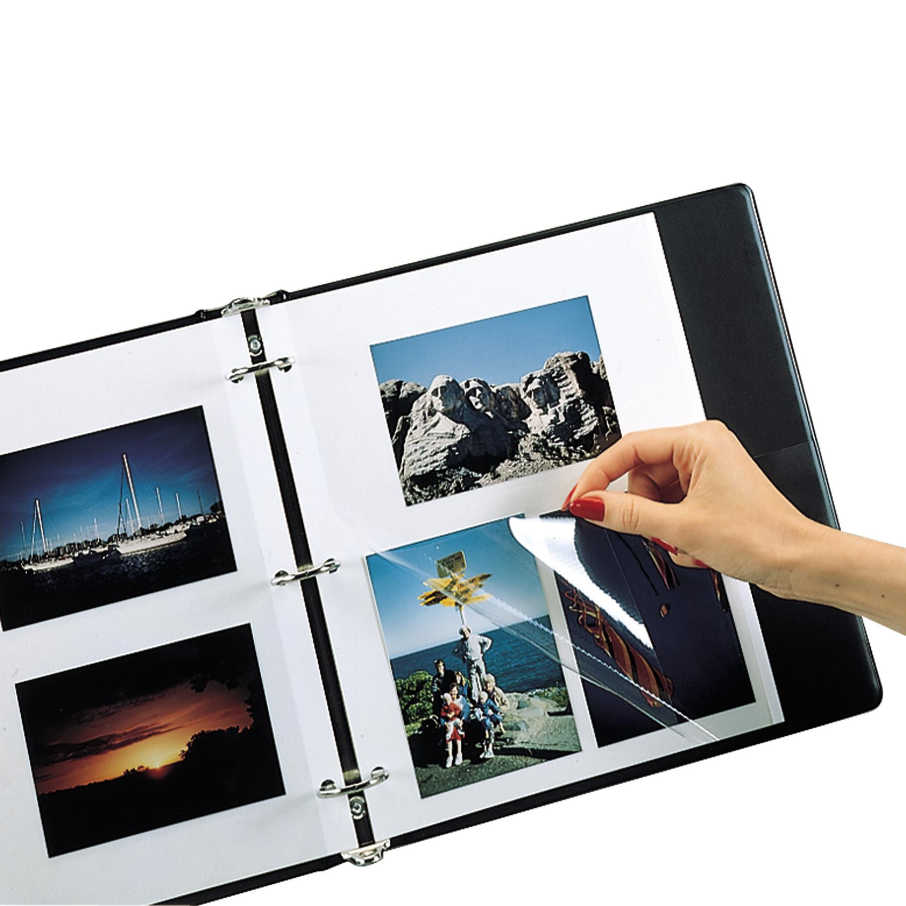 C Line 85050 Redi Mount Photo Sheets 3 Hole Punched 11 X 9 50