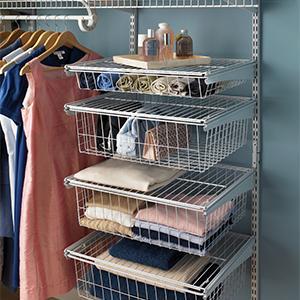 Shelftrack, Closet Organizer, Closet Storage, Wire Shelf, Wire Kits,  Closetmaid