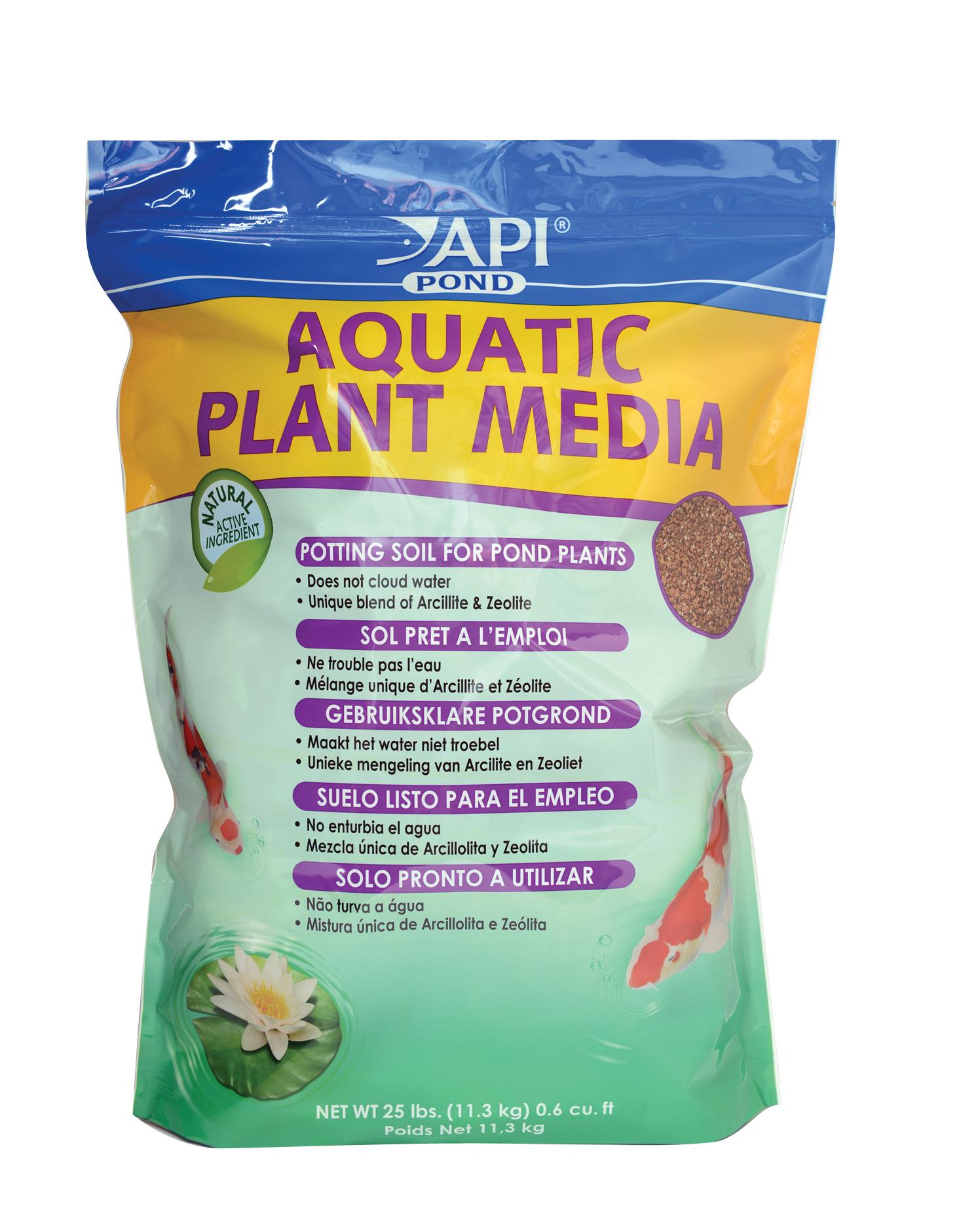 Api fishcare pondcare aquatic plant media soil 25 pound for Pond plant supplies