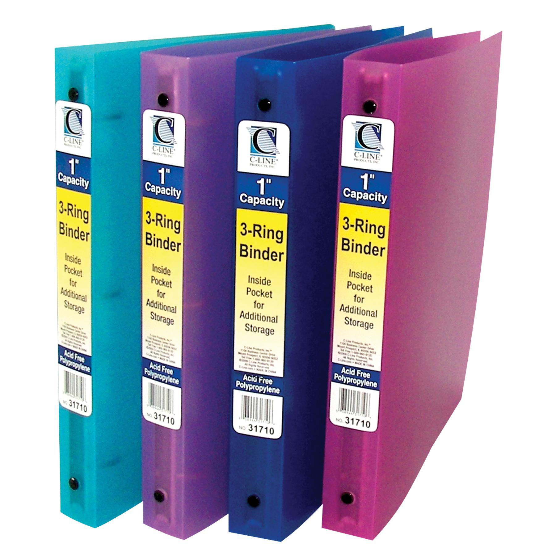 C-Line Self-Adhesive Ring Binder Label Holders, Top Load