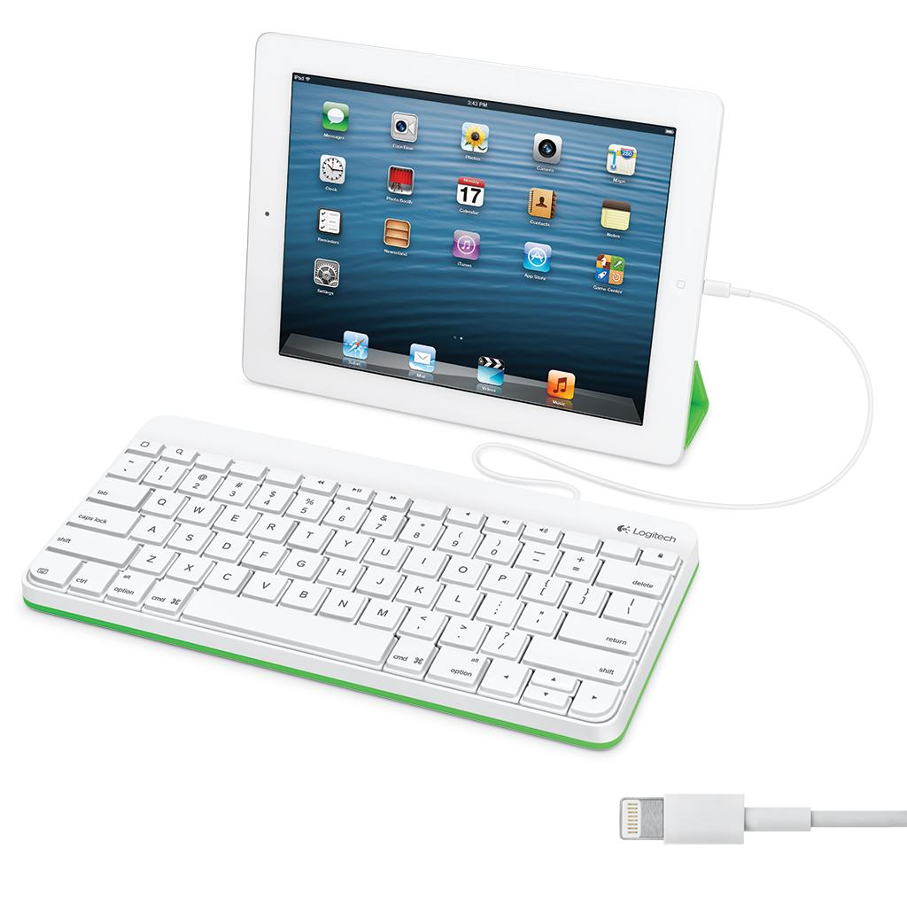 logitech wired keyboard for ipad with lightning connector 920 006341 computers. Black Bedroom Furniture Sets. Home Design Ideas