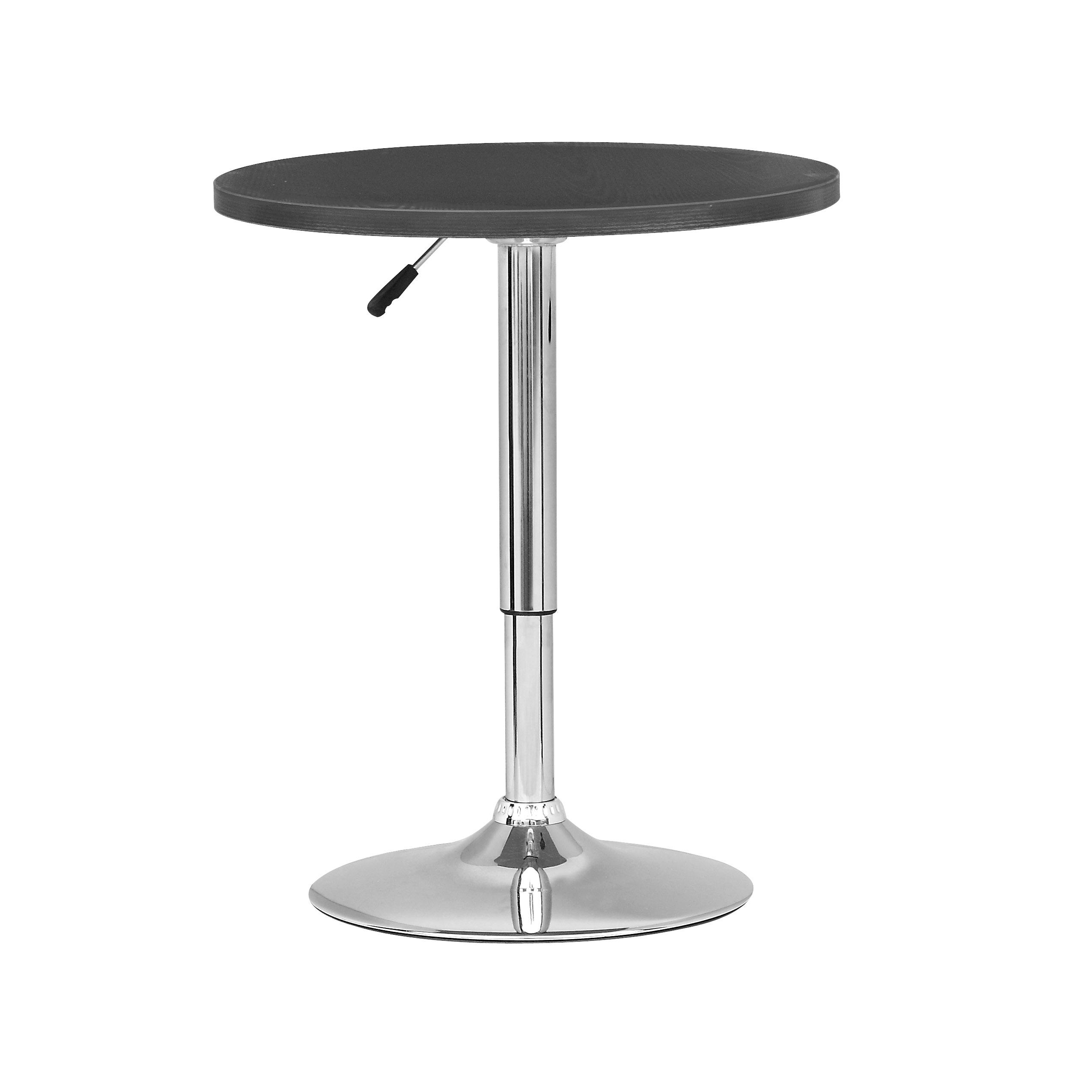 Corliving Daw 510 T Adjustable Height Round Bar Table In White Wood
