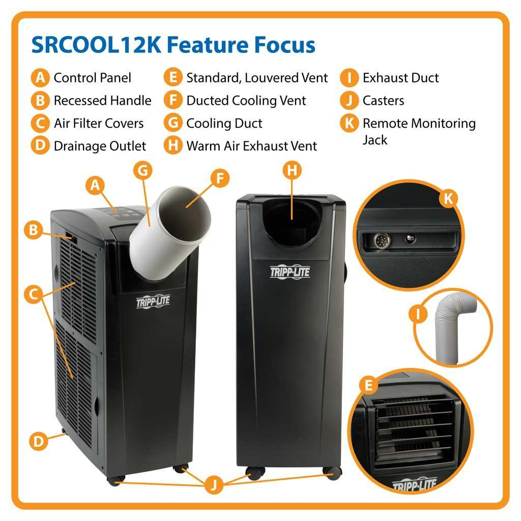 Tripp Lite Srcool12k Portable Cooling Air Conditioner