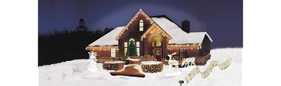 outdoor lights and sounds of christmas - Mr Christmas Lights And Sounds Of Christmas Outdoor