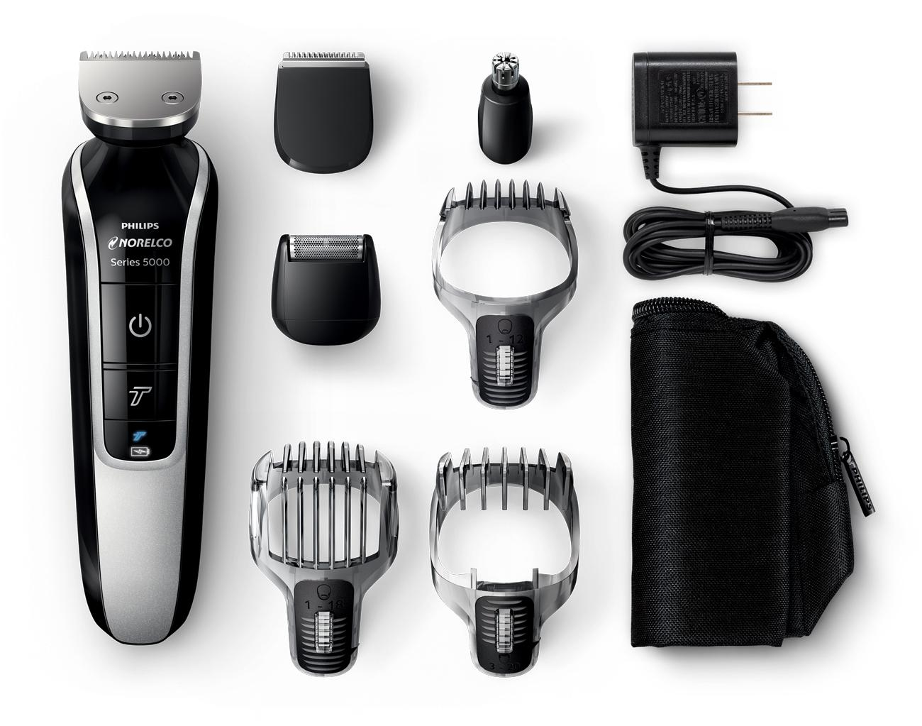 philips norelco multigroom 5100 all in one trimmer with 7. Black Bedroom Furniture Sets. Home Design Ideas