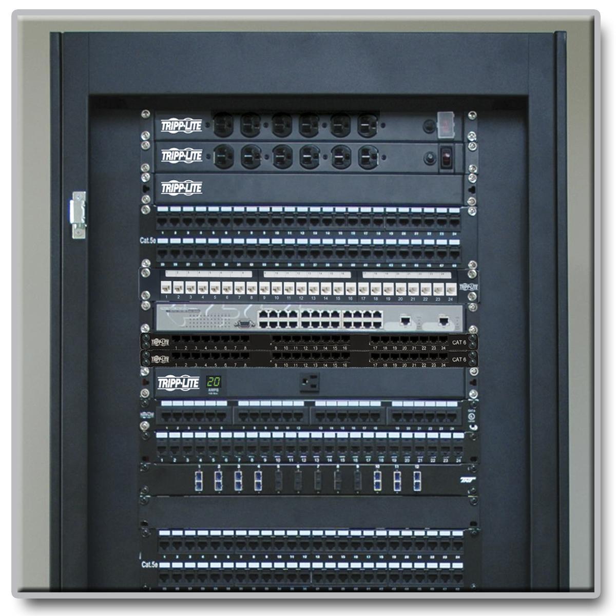 Tripp Lite N252 024 Hu 24 Port Cat6 05u Rm Patch Panel 568a B Taa 110 Type Compatible