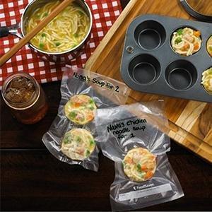 foodsaver,food,saver,vacuum,sealer,sealing,soup,portions,rolls