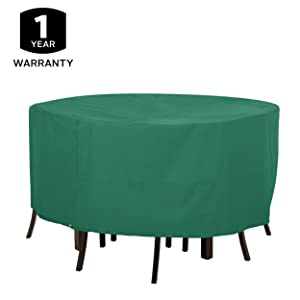 Round patio table set cover, outdoor table, Garden table, wood, metal, glass, wicker, warranty