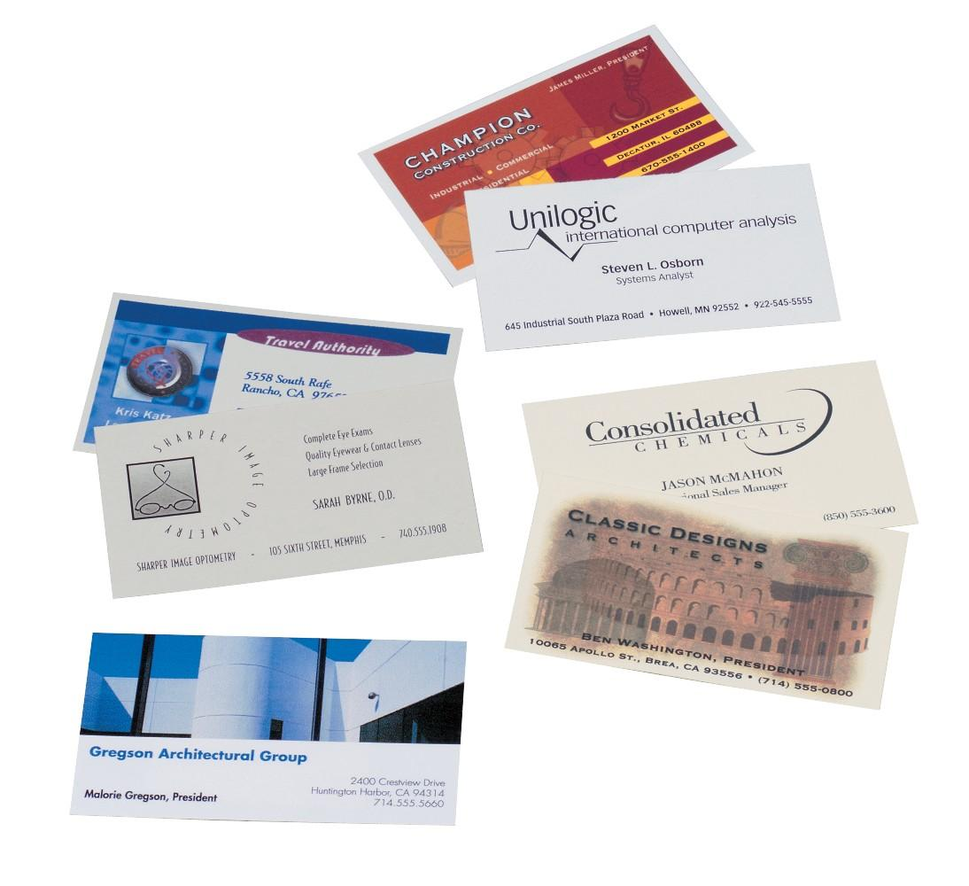 Avery 5881 Color laser perforated white 2x3-1/2 business cards, 8 ...