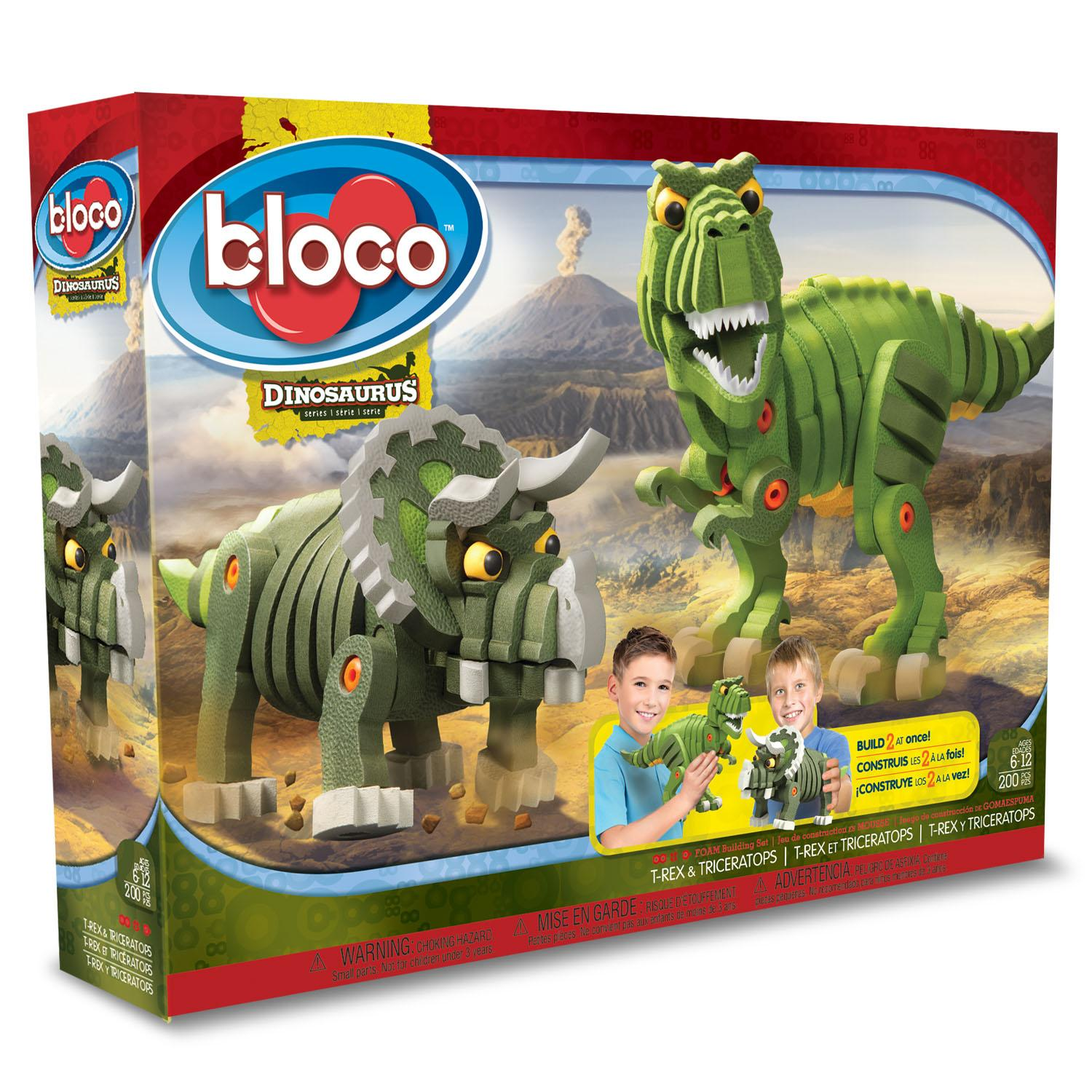 bloco toys t rex and triceratops bloco toys. Black Bedroom Furniture Sets. Home Design Ideas
