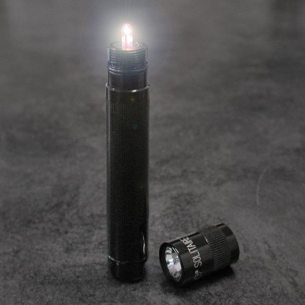 Maglite Solitaire Incandescent 1 Cell Aaa Flashlight Black