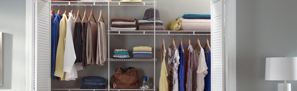 5 Feet To 8 Fixed Mount Closet Organizer Kits