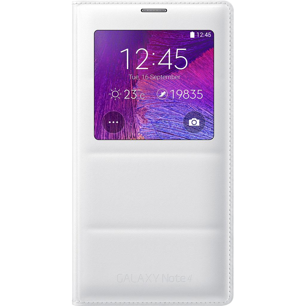 info for 09aa4 d7561 Samsung Galaxy Note 4 S-View Flip Cover, Retail Packaging, Frost White