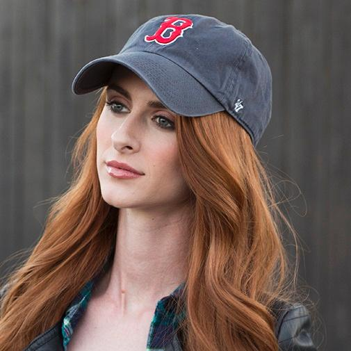 85eb2bc523c880 47 Brand MLB Boston Red Sox Men's Home Clean Up Cap, Navy, One-Size ...
