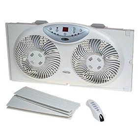 Bionaire Bw2300 N Twin Reversible Airflow Window Fan With Remote