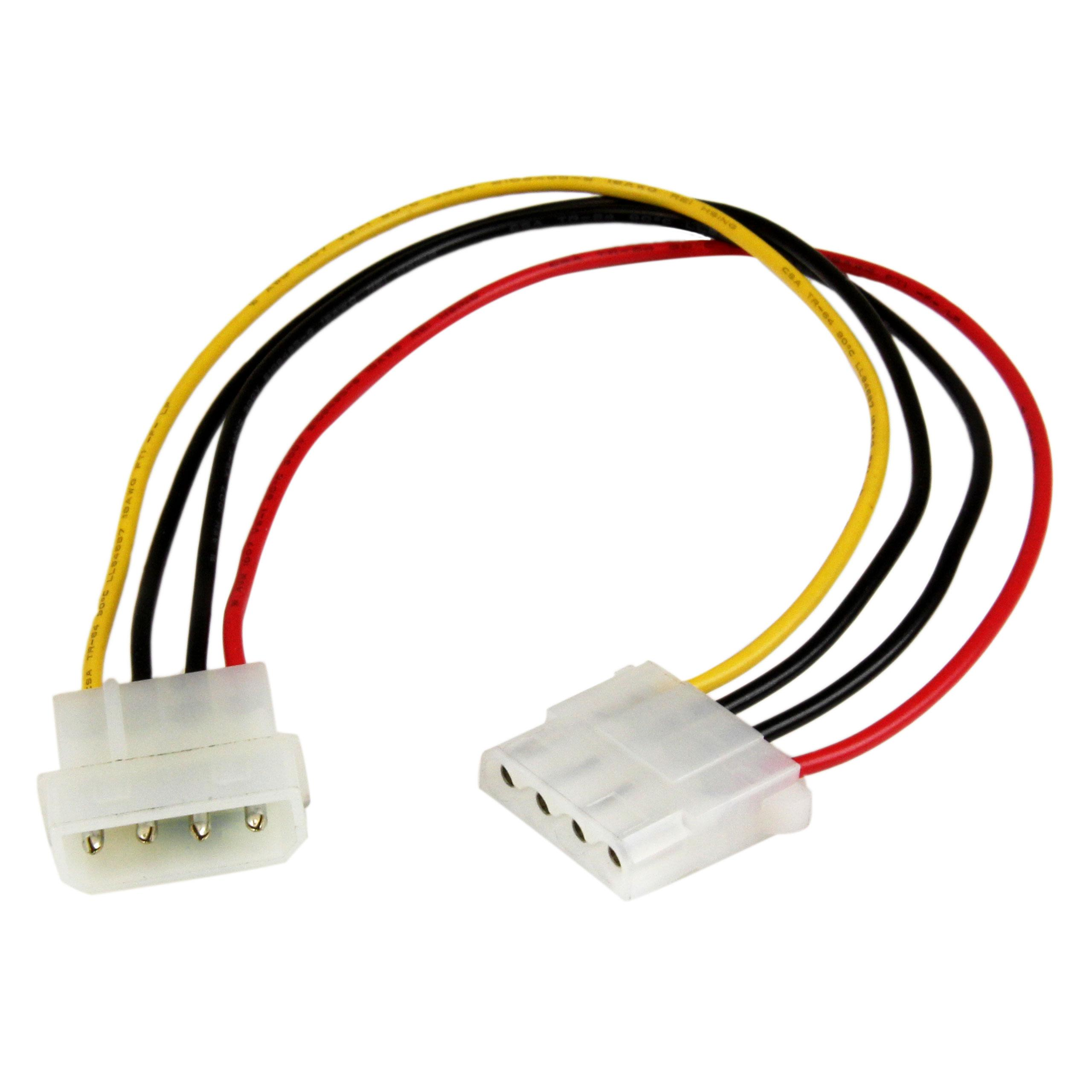 """Canada 12/"""" Molex 4-Pin 5.25 Female to 5.25 Female DC Power Extension Cable"""