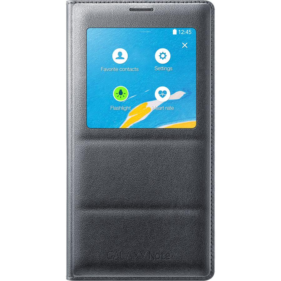 hot sale online e3f85 e05a1 Samsung S-View Wireless Charging Cover for Galaxy Note 4, Retail Packaging,  Charcoal
