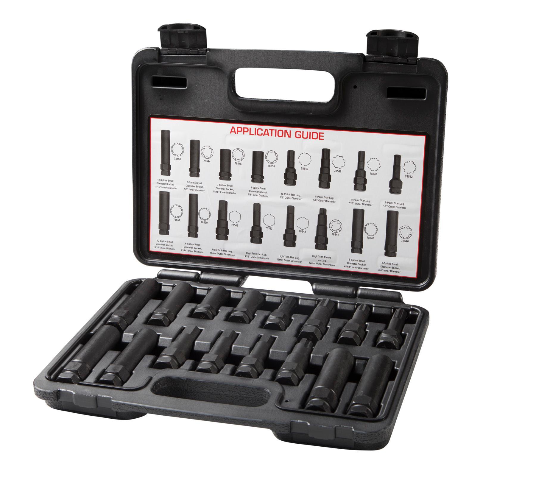 Steelman 78537 16 Piece Locking Lug Nut Master Key Set