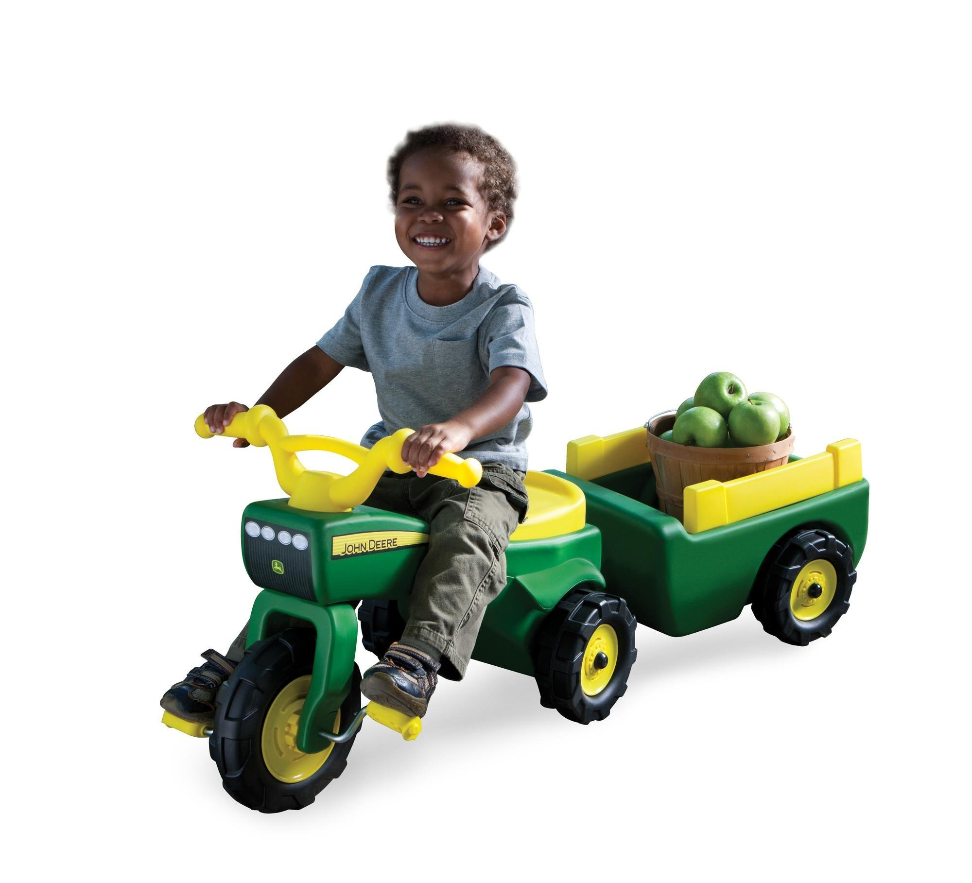 Popular Types Ride On Toys For Kids : John deere pedal tractor and wagon cars amazon canada