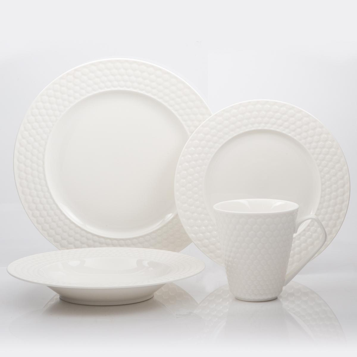 16 Pc Set Porcelain Dinnerware Chailles Collection & Cuisinart 16-Piece Dinnerware Set Windflower Collection: Amazon.ca ...