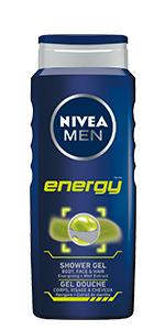 shower gel, energy, NIVEA MEN