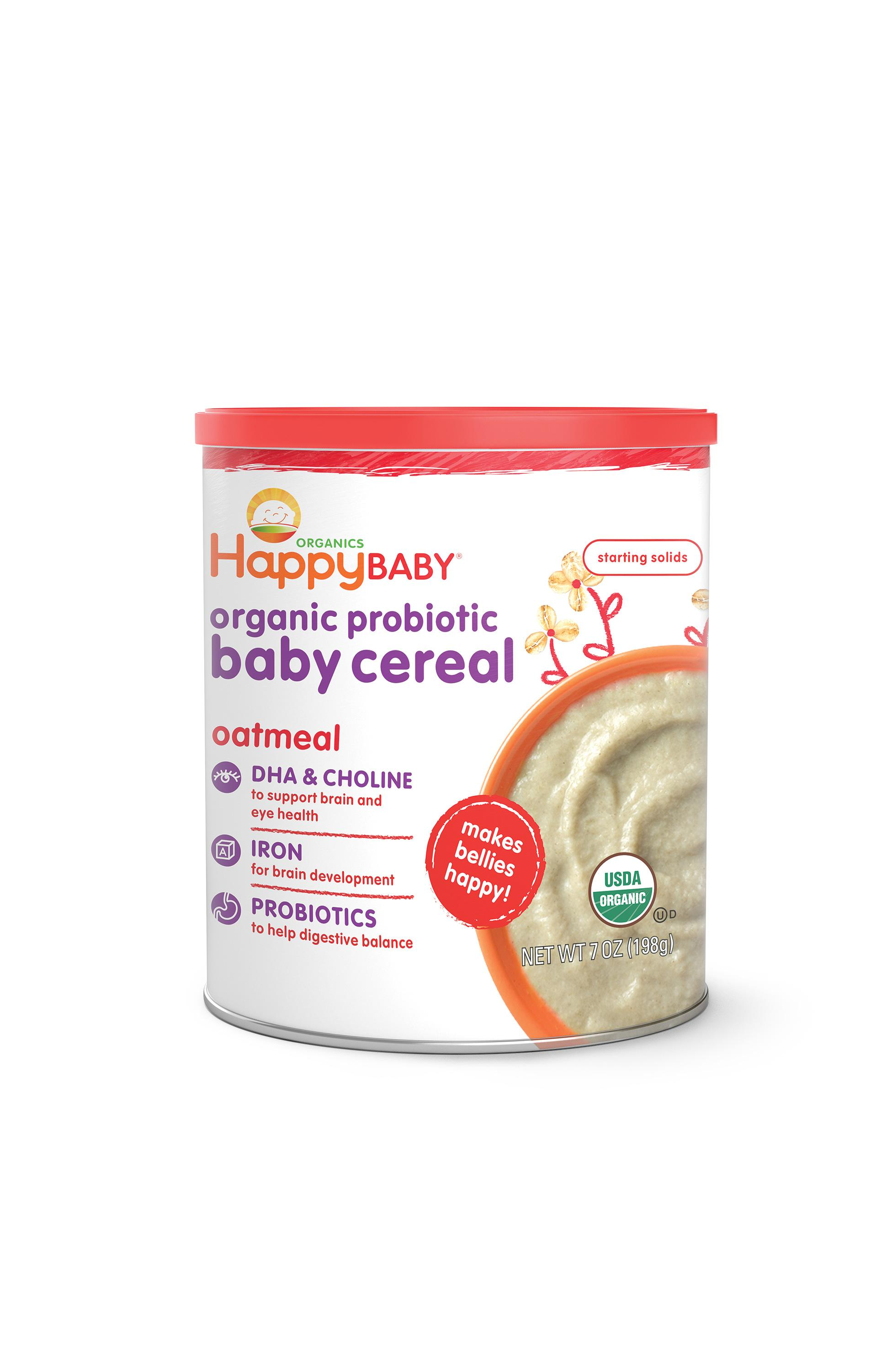 Happy Baby Organic Probiotic Baby Cereal With Dha