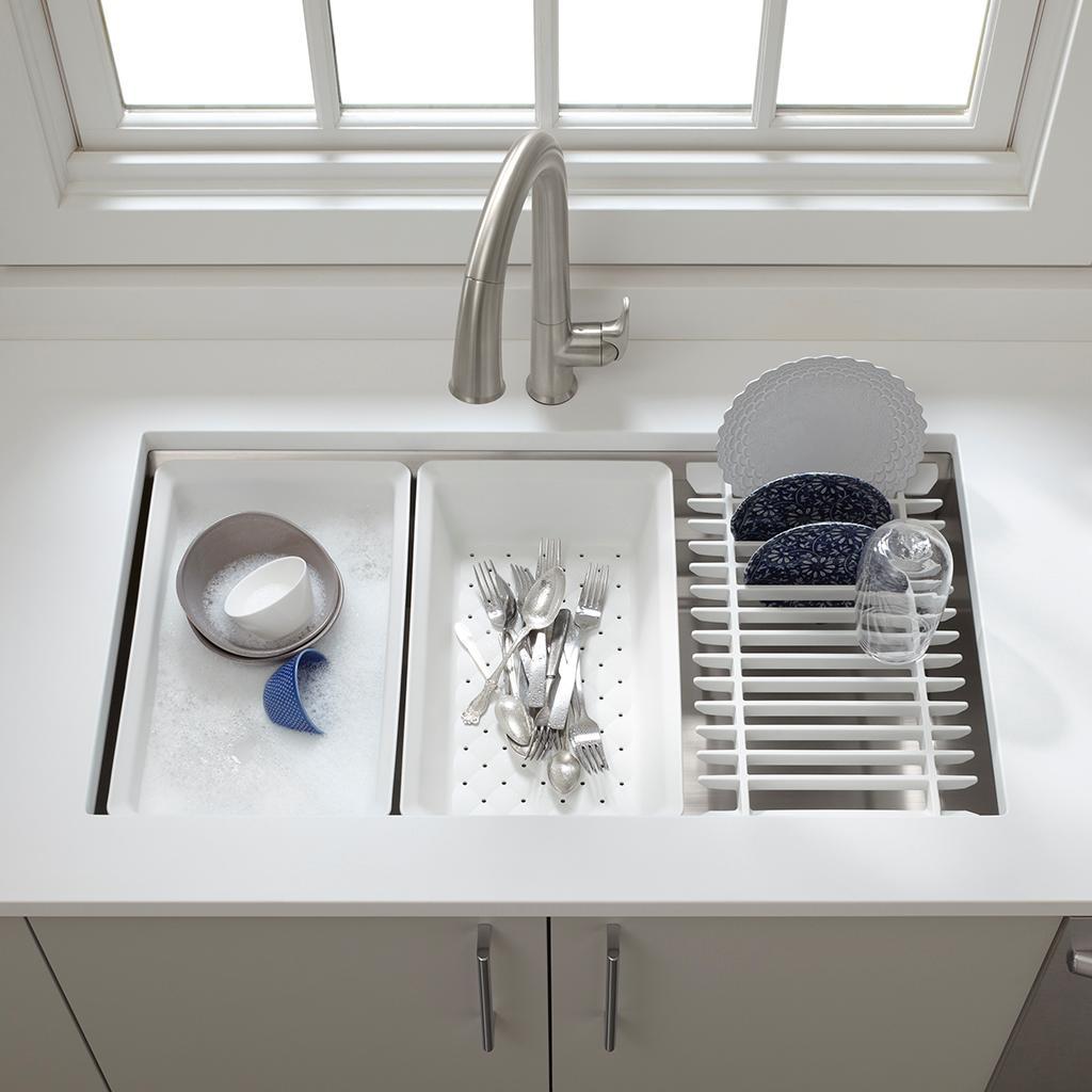 Sink Grates For Kohler Sinks : KOHLER K-5540-NA Prolific Undermount Single Bowl Kitchen Sink with ...