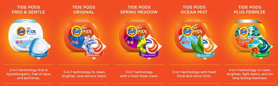 Tide Pods Free Amp Gentle He Turbo Laundry Detergent Pacs