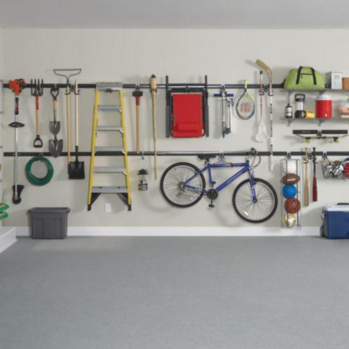 rubbermaid fast track accessories, rubbermaid fast track 2 bicycles, rubbermaid fast track bike rack, lowe's rubbermaid fast track, rubbermaid fast track organizer, rubbermaid fast track system, garage wall track, on rubbermaid garage fast track
