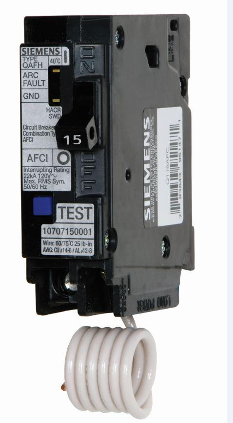 Siemens 15 Amp Single Pole Wireguide Dual Function Afci Manual Guide