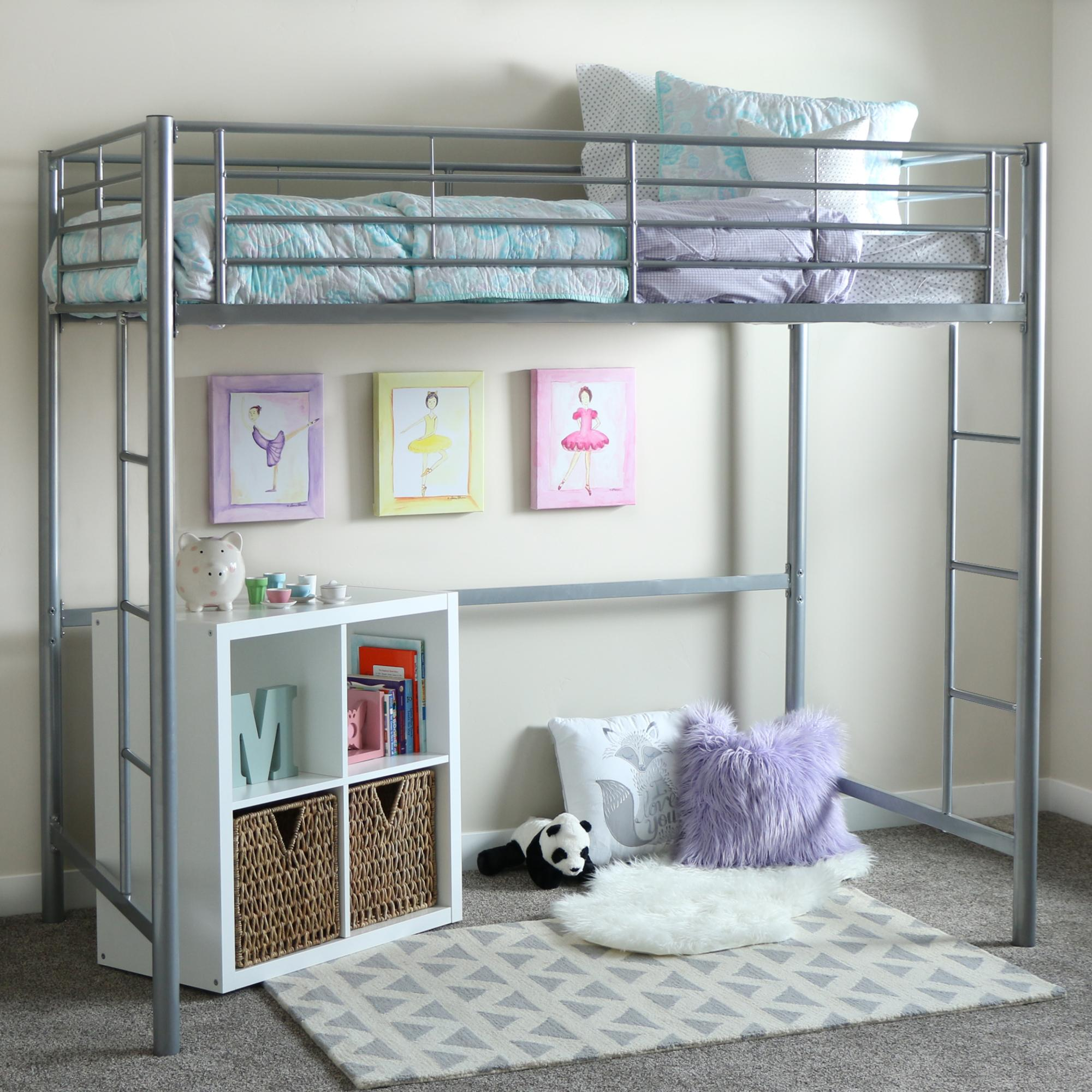 Jay furniture stair loft bed in cherry with desk kids black finish - View Larger This Lofted Bunk Bed