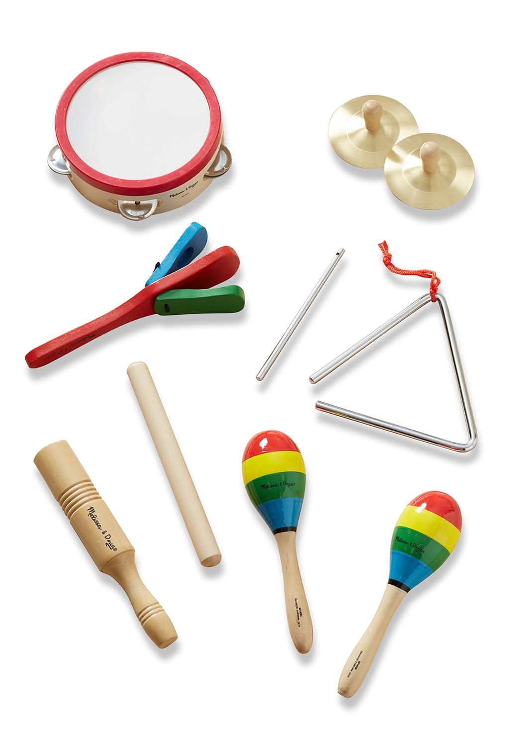 Toy Drum Musical Instruments : Melissa doug band in a box clap clang tap piece