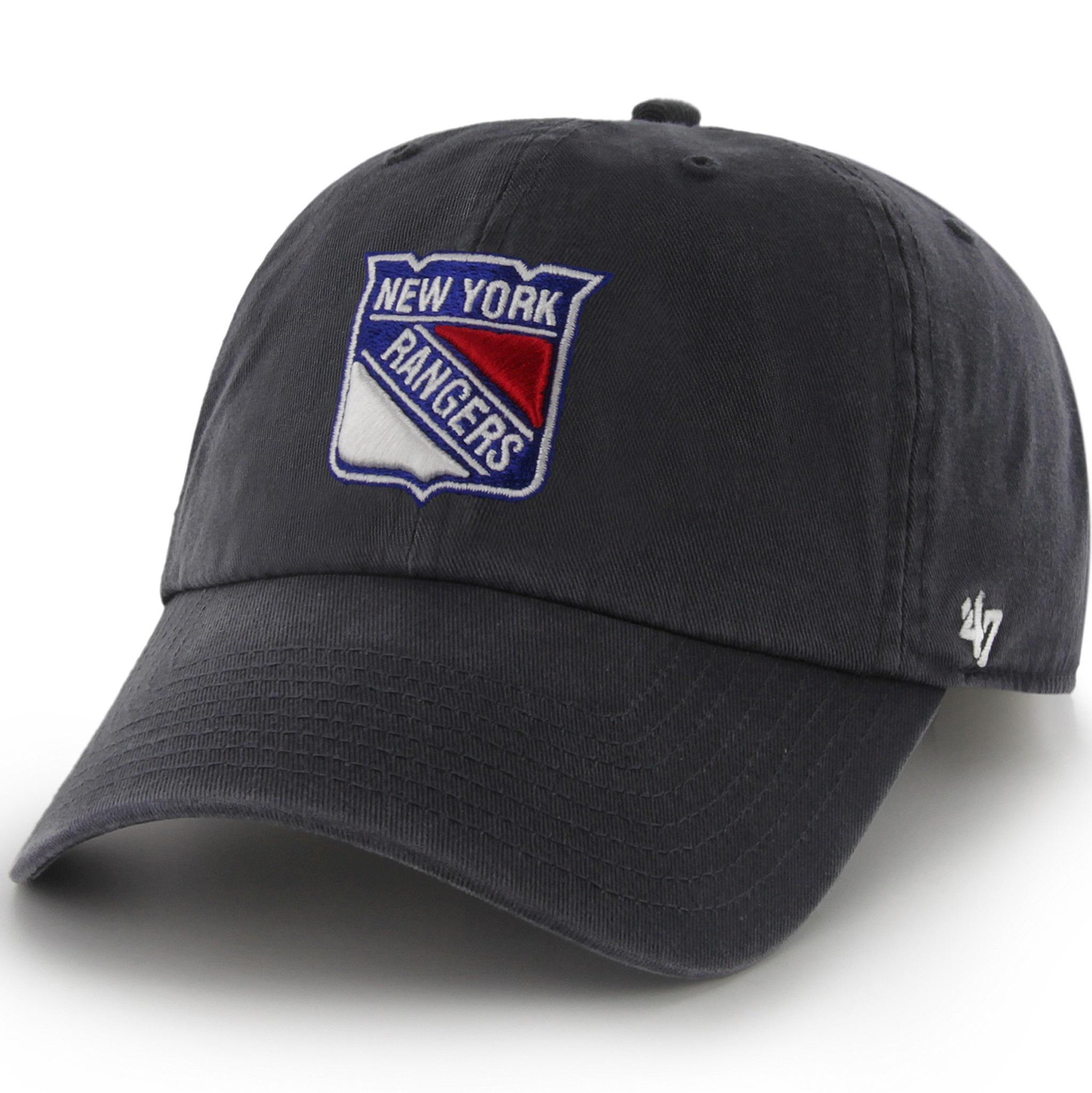 77e69b5029d109 47 Brand H-RGW13GWS-RY NHL New York Rangers Clean up Adjustable Cap ...