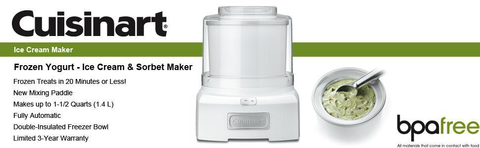 Automatic Frozen Yogurt-Ice Cream and Sorbet Maker