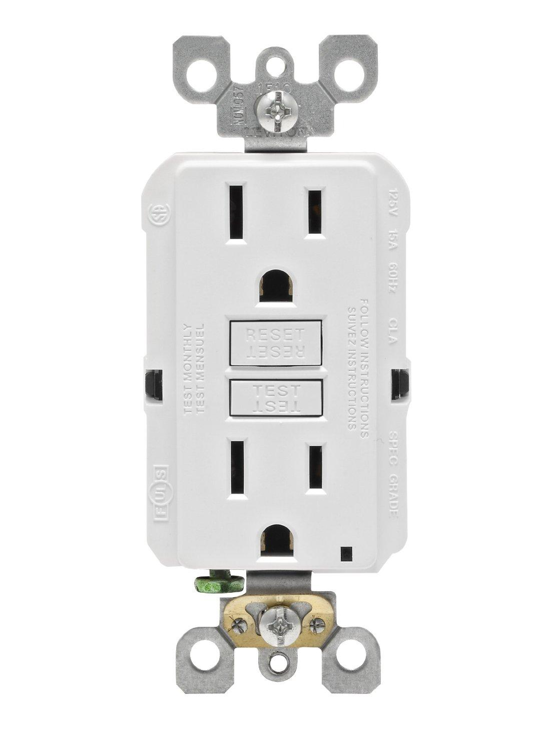 Leviton Gfnt1 E Self Test Smartlockpro Slim Gfci Non Tamper Framed Toggle Singlepole Switch White Home Depot Canada From The Manufacturer