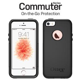 big sale 96893 f0600 OtterBox COMMUTER SERIES Case for iPhone 5/5s/SE - Retail Packaging -  GLACIER (WHITE/GUNMETAL GREY)