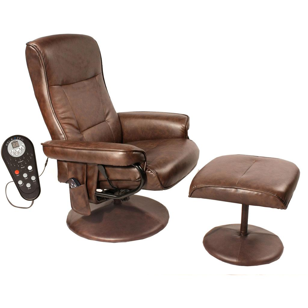 reclining chairs heated chair homcom recliner massage health black set beauty ottoman products